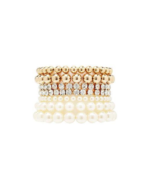 Forever 21 | Natural Faux Pearl Bracelet Set | Lyst