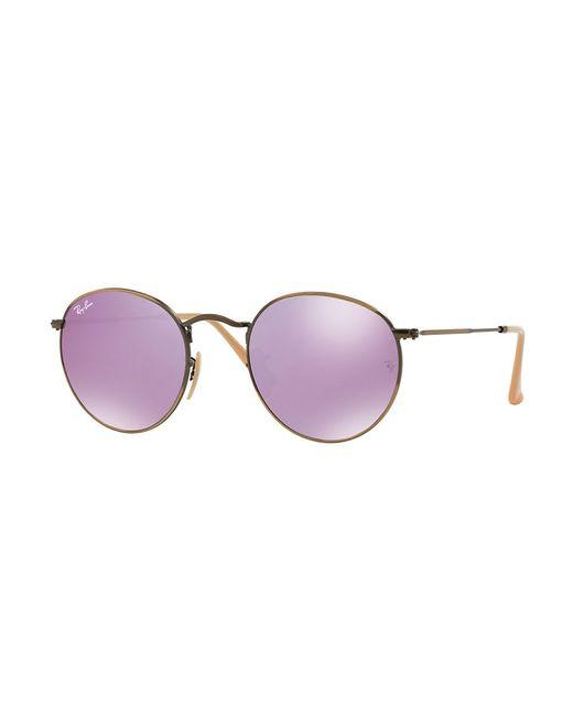 Ray-Ban | Metallic Round Mirrored Sunglasses | Lyst