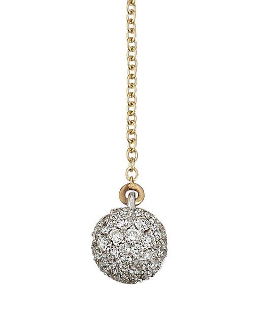 Delfina Delettrez | Metallic 18kt Gold Necklace With White Diamonds | Lyst