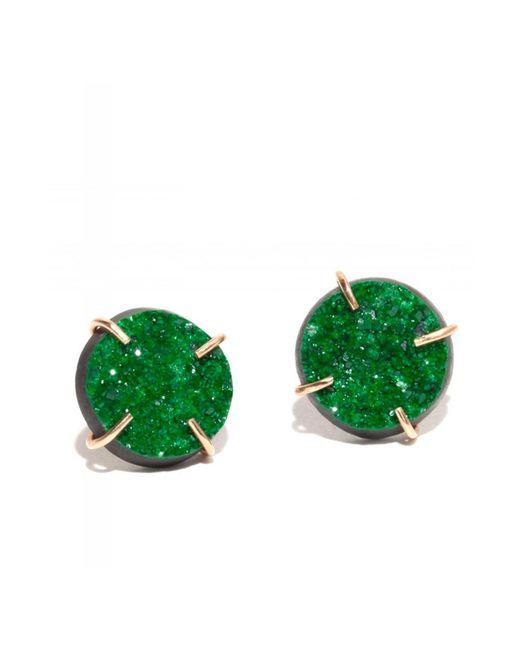 Melissa Joy Manning | Green Large Uvarovite Garnet Druzy Stud Earrings | Lyst