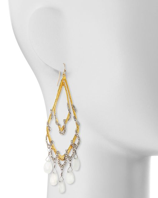 Alexis Bittar | Metallic Golden Maldivian Orbiting Teardrop Earrings | Lyst