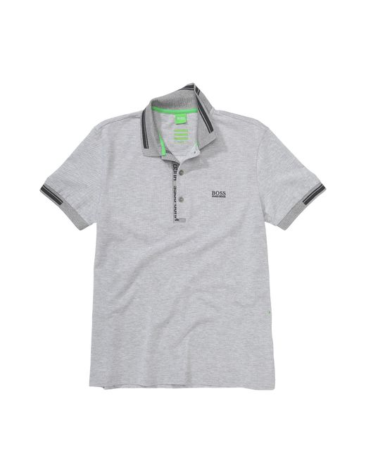BOSS Green | Gray Polo Shirt 'paule 4' In Cotton Piqué for Men | Lyst