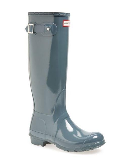 Hunter | Gray Original High Gloss Boot | Lyst