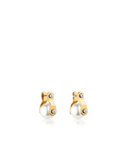 Louis Vuitton | Metallic Lv Speedy Pearls Earrings | Lyst