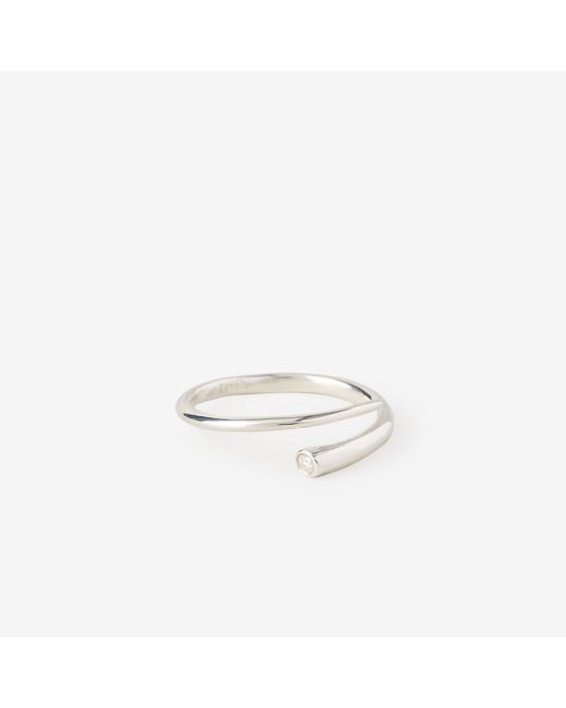 N/a | Metallic Tapered Diamond Wrap Ring | Lyst