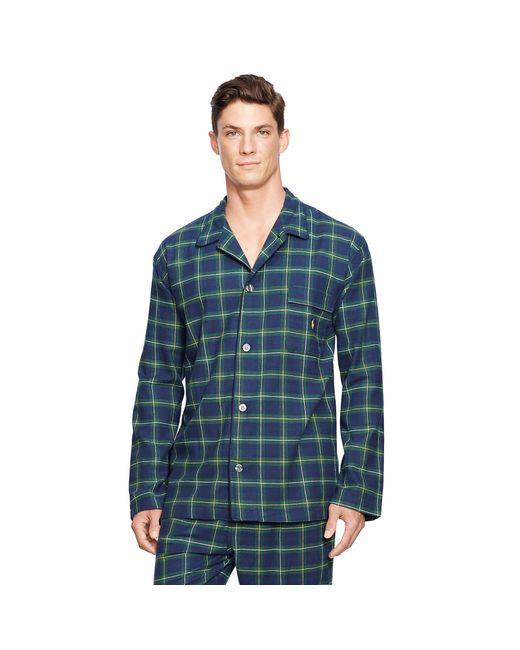 Polo ralph lauren plaid flannel sleep shirt in yellow for for Mens yellow plaid flannel shirt