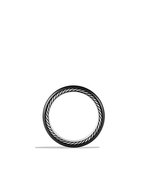 David Yurman | Streamline Narrow Band Ring With Diamonds And Black Titanium for Men | Lyst