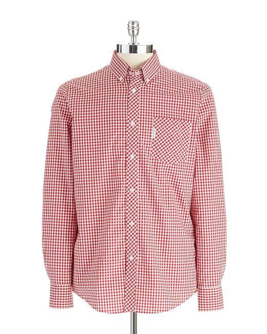 Ben Sherman | Red Gingham Plaid Shirt for Men | Lyst