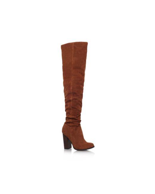 Miss Kg | Brown Venice High Heel Knee Boots | Lyst