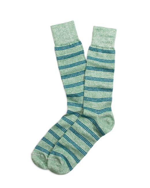 Brooks Brothers | Green Heather Stripe Crew Socks for Men | Lyst