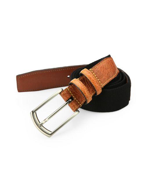 Saks Fifth Avenue | Black Woven Cotton Belt for Men | Lyst