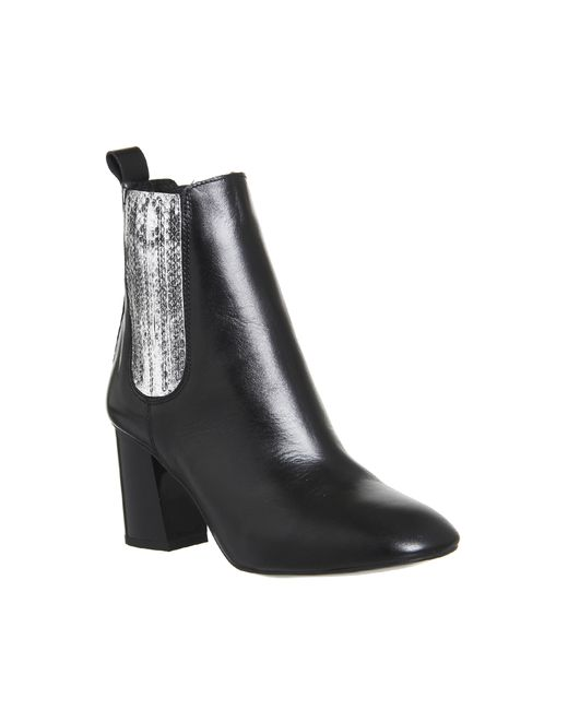 office jealous heeled chelsea boots in black lyst