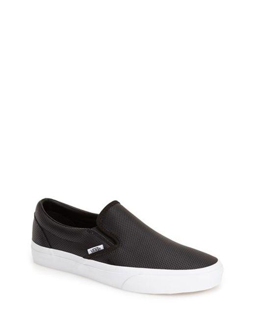 Vans | Black 'classic - Perforated' Slip-on Sneaker for Men | Lyst