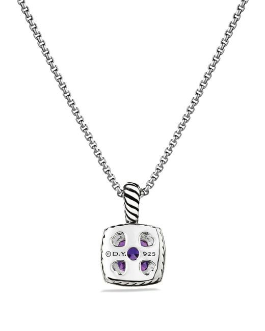 David Yurman | Metallic Petite Albion Pendant With Amethyst And Diamonds On Chain | Lyst