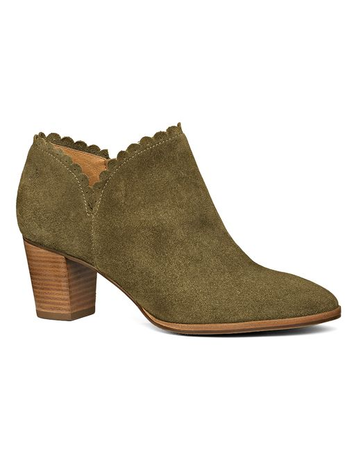 Jack Rogers | Green Marianne Suede Bootie | Lyst