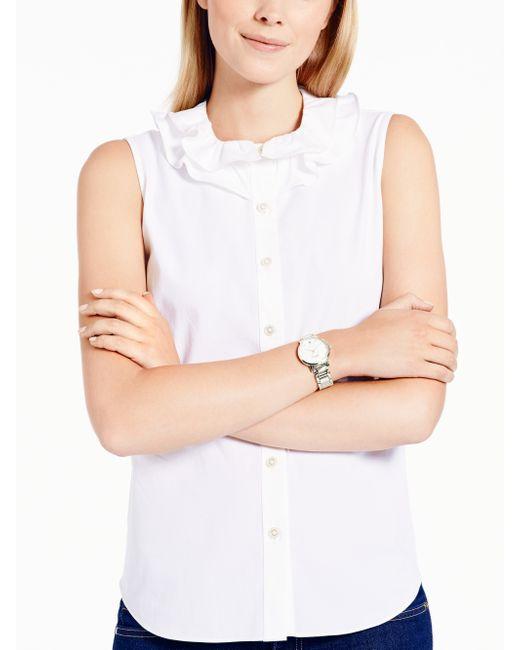 Kate Spade | Gray Holland Skinny Strap Watch | Lyst