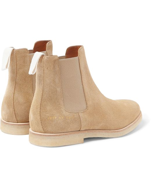 common projects suede chelsea boots in beige for men sand. Black Bedroom Furniture Sets. Home Design Ideas