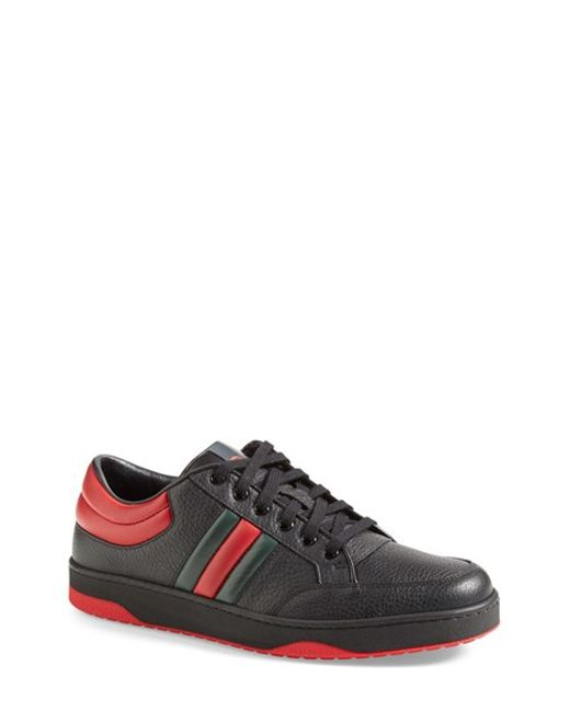 Gucci | Red Ronnie Leather Low-Top Sneakers for Men | Lyst