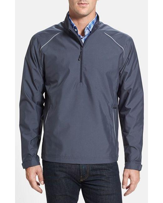 Cutter & Buck | Gray 'weathertec Beacon' Water Resistant Half Zip Jacket for Men | Lyst