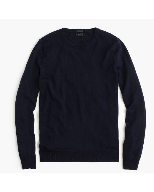J.Crew | Blue Slim Merino Wool Crewneck Sweater for Men | Lyst
