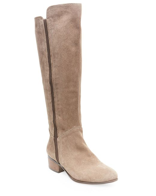steve madden pullon suede knee high boots in multicolor