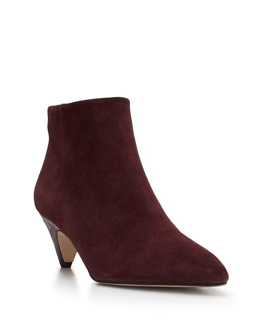 Sam Edelman | Red Lucy Suede Ankle Boots | Lyst