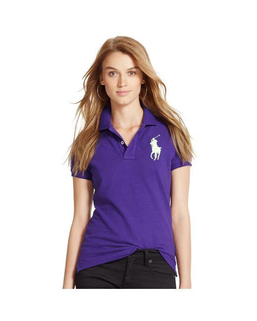 Polo Ralph Lauren | White Skinny-fit Big Pony Polo Shirt | Lyst