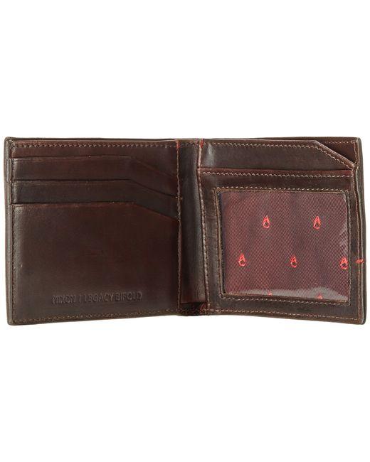 Nixon   Brown Legacy Bi-Fold Wallet for Men   Lyst