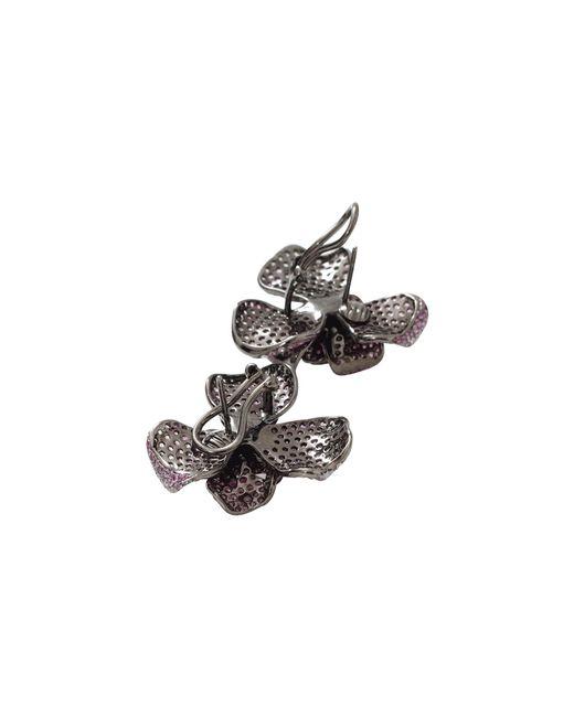 Wendy Yue | Metallic Pink Sapphire Flower Earrings | Lyst