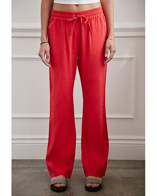 Forever 21 | Pink Linen-blend Drawstring Pants You've Been Added To The Waitlist | Lyst