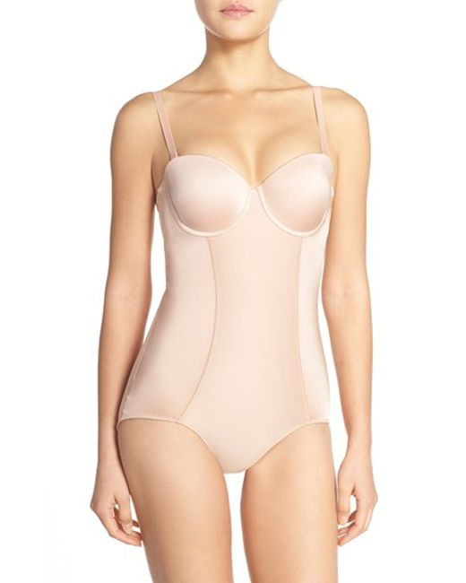 Spanx | Pink Spanx 'boostie-yay' Slimming Bodysuit With Bra Top | Lyst