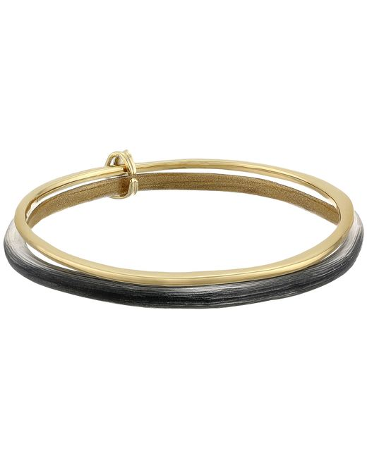 Alexis Bittar | Black Liquid Metal Paired Bangle Bracelet | Lyst