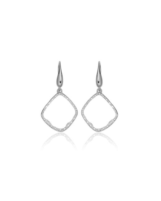 Monica Vinader | Metallic Riva Diamond Hoop Earrings | Lyst