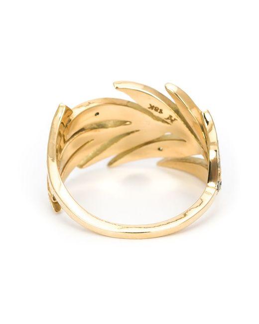 Marc Alary | Metallic Diamond Leaf Ring | Lyst