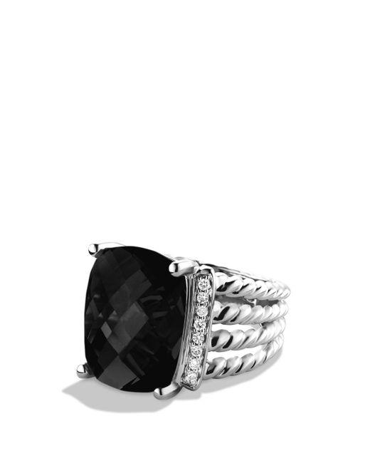 David Yurman | Metallic Wheaton Ring With Black Onyx And Diamonds | Lyst