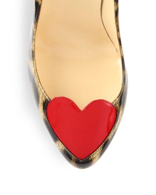 mens replica shoes - Christian louboutin Doracora Leopard-Print Patent Leather Pumps in ...