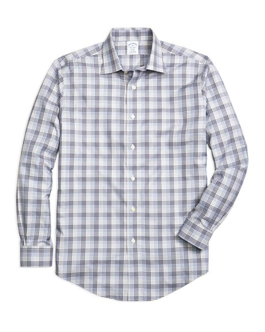 Brooks Brothers | Gray Non-iron Regent Fit Plaid Sport Shirt for Men | Lyst