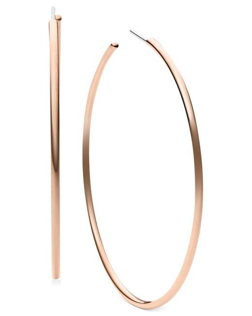 Michael Kors | Pink Large Delicate Hoop Earrings | Lyst