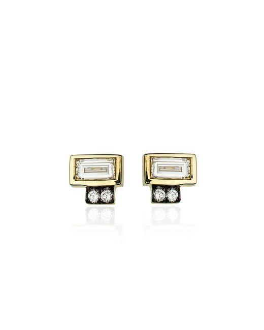 Jemma Wynne | Metallic Prive Diamond Stud Earrings | Lyst