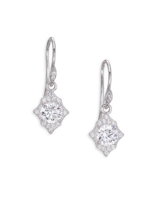 Adriana Orsini | Metallic Heart & Soul Sterling Silver Medallion Drop Earrings | Lyst