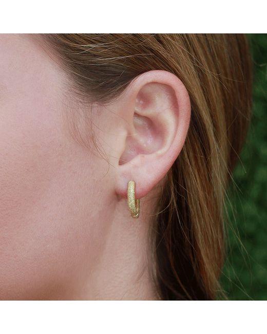 Carolina Bucci | Yellow Mirador Sparkly Huggie Earrings | Lyst