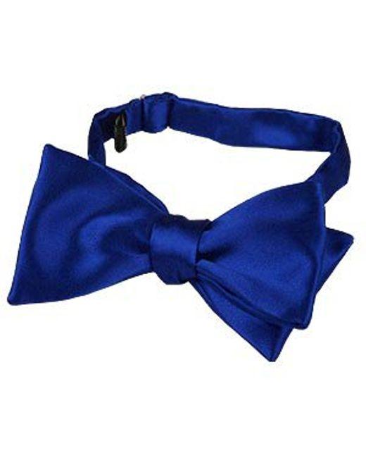 FORZIERI | Blue Solid Silk Self-tie Bowtie for Men | Lyst