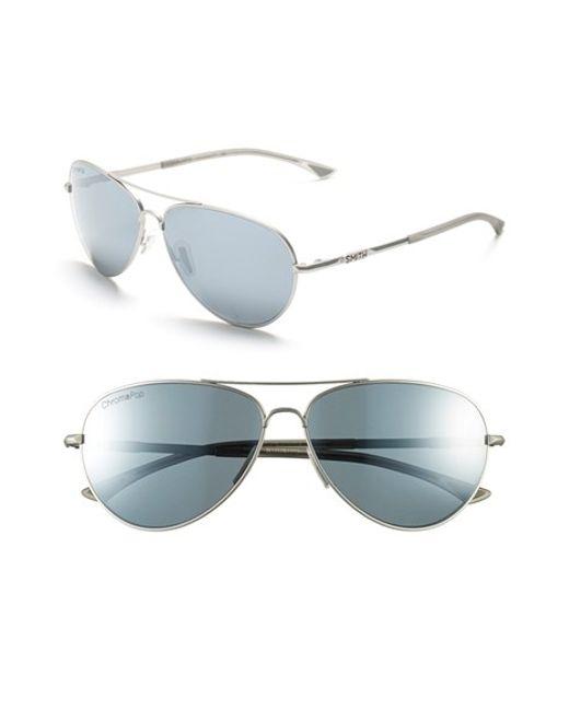 Smith Optics   Metallic 'audible - Chromapop' 60mm Polarized Aviator Sunglasses   Lyst