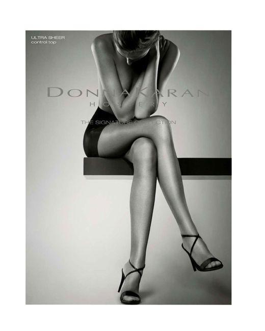 Donna Karan | Metallic Signature Ultra Sheer Control Top | Lyst