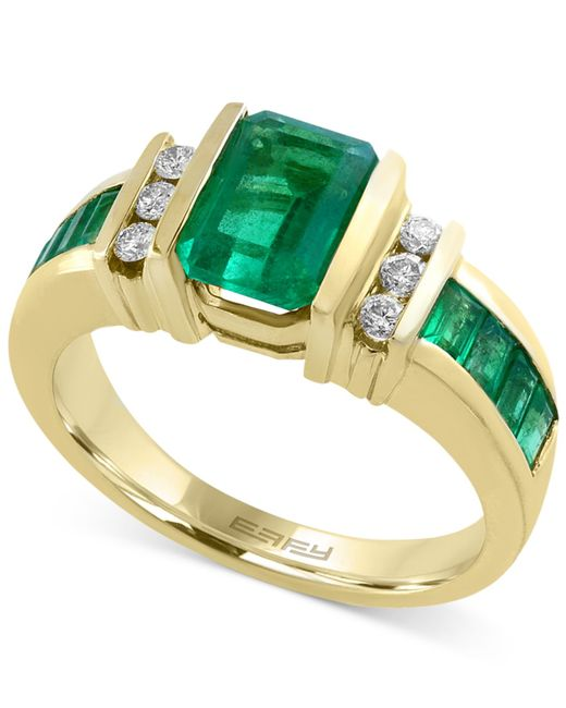 Emerald Cut Diamond Earrings Yellow Gold
