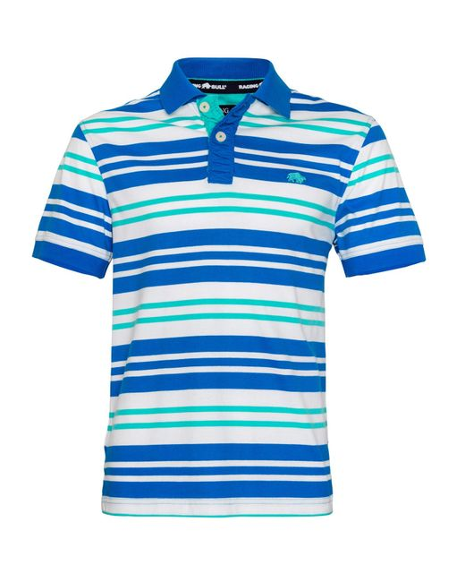 Raging Bull | Blue Varied Stripe Regular Fit Polo Shirt for Men | Lyst