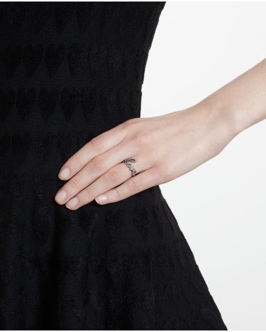 Rosa De La Cruz | Brown 18k Oxidised Gold Diamond Love Ring | Lyst