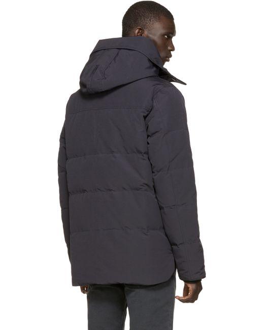 Canada Goose jackets sale shop - Canada goose Navy Black Label Macmillan Parka in Blue for Men ...