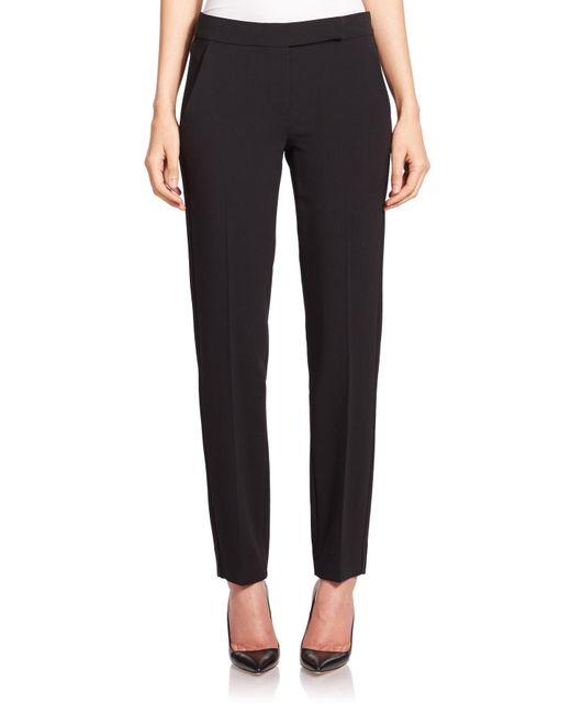 Max Mara | Black Siesta Stretch Wool Slim Trousers | Lyst