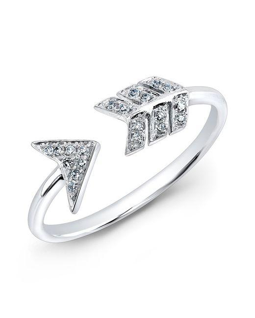 Anne Sisteron | Metallic 14kt White Gold Diamond Arrow Ring | Lyst